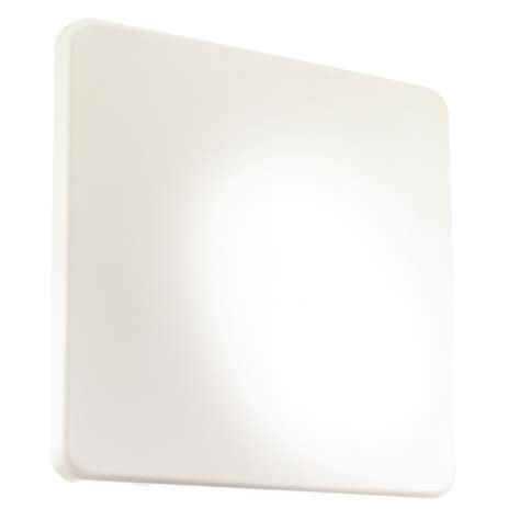 Plastic Ceiling Diffuser eglo eglo 89256 giron large square flush wall ceiling light with a white plastic diffuser