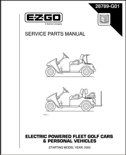 service manual electric and cars manual 2003 ford zx2 spare parts catalogs how to install ezgo 28789g01 2003 2004 service parts manual for electric golf cars personal vehicles media