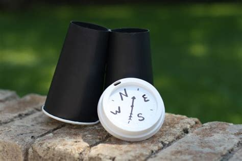 How To Make A Paper Compass - diy make your own explorer binoculars compass