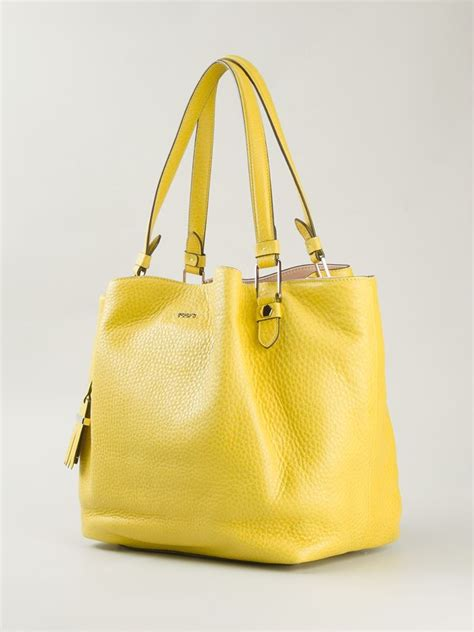 Flowery Tote Bag tod s flower tote bag in yellow lyst