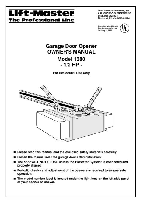Craftsman Garage Door Opener Repair Manual Craftsman Garage Door Opener Manual Pilotproject Org