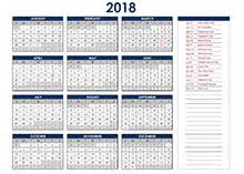 Calendar 2018 Excel Yearly 2018 Excel Calendar Template Free Printable