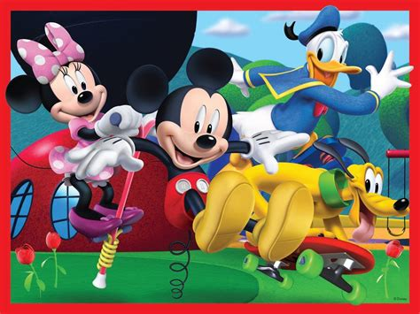 Puzzle Mickey Mouse Club 4 puzzles mickey mouse club house 12 teile ravensburger puzzle kaufen