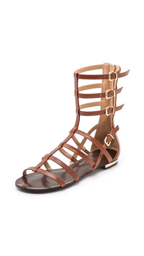 schutz sandals lyst schutz gladiator sandals in brown