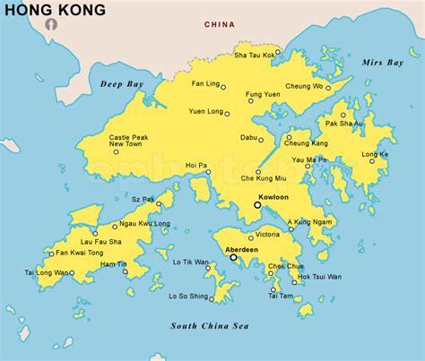 hong kong map  holidaymapqcom