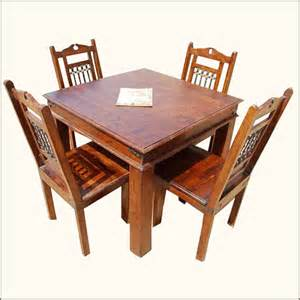 5pc solid wood dining room table and 4 people chairs set