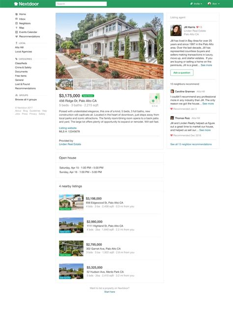 House Listing Websites Neighborhood Social Network Nextdoor Launches Real Estate