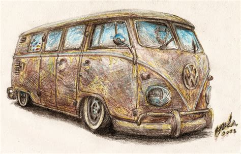 old volkswagen drawing vw t1 bus by nozols on deviantart