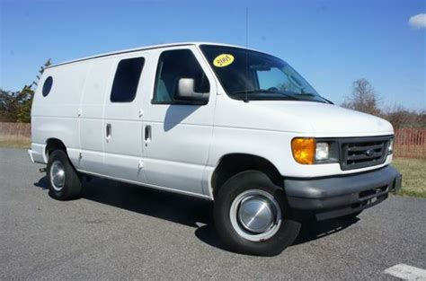 buy used 2005 ford e250 cargo van for sale white port hole window 4 6l v8 salvage title in