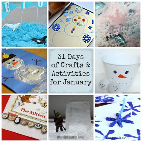 january craft projects 31 days of activities for january where imagination