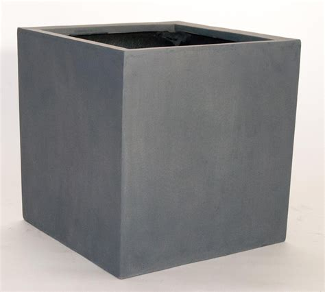 pflanzkübel fiberglas grau blumenk 252 bel fiberglas quadratisch 50x50x50cm grau