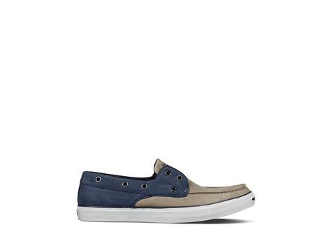 converse loafers lyst converse purcell boat shoe loafers in blue for