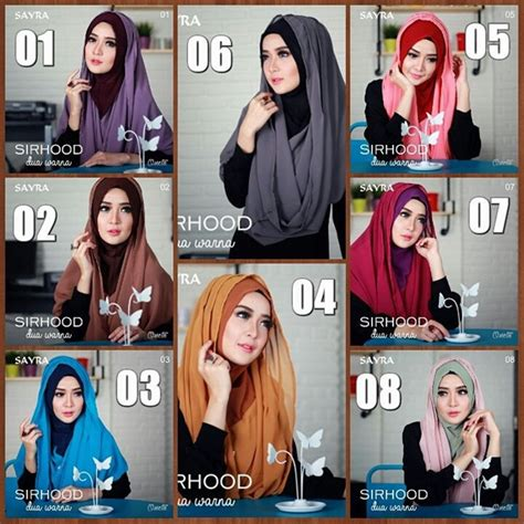 Pakaian Wanita Aksesoris Jilbab Instan Hoodie Tasya jilbab instan sirhood sayra 2tone terbaru bundaku net