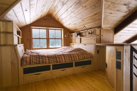 small house with loft bedroom tiny house loft bed cabin river ideas pinterest