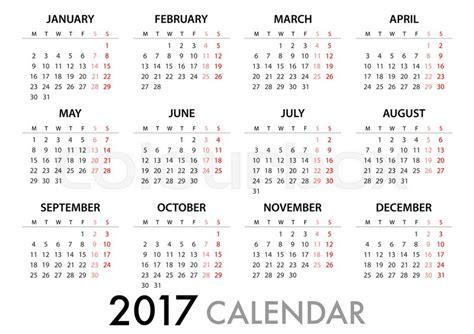 Calendar With Organization 2017 Calendar Planner Design For Organization And