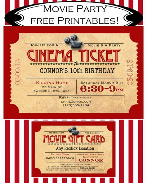 printable movie gift cards like mom and apple pie a summer of movies free