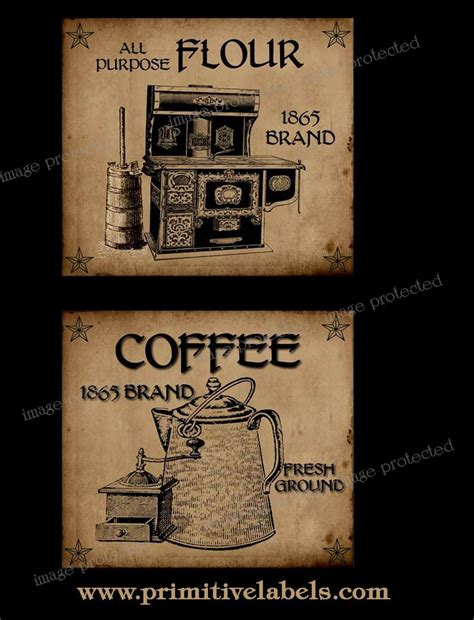 printable coffee jar labels 250 best images about primitive printables on pinterest