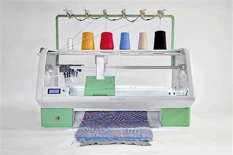 clothes design machine kniterate digital knitting machine allows you to 3 d print
