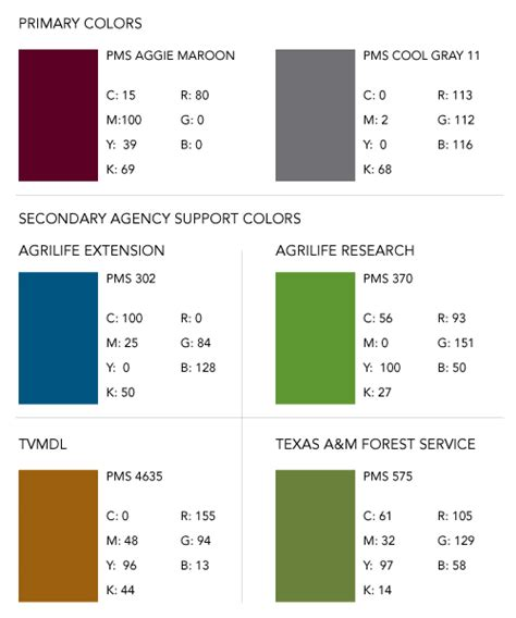 aggie colors brand colors