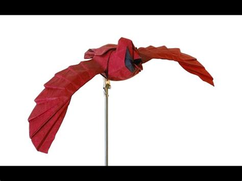 Origami Cardinal - how to make an origami cardinal
