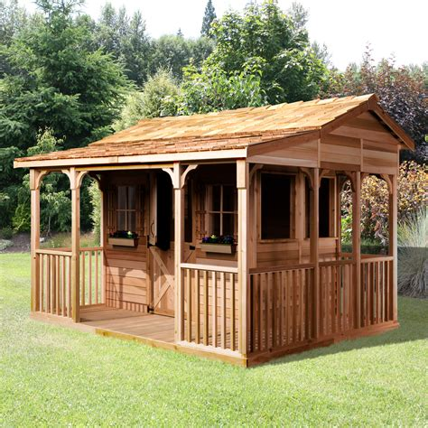cedar shed  ft   ft cookhouse shed lowes canada