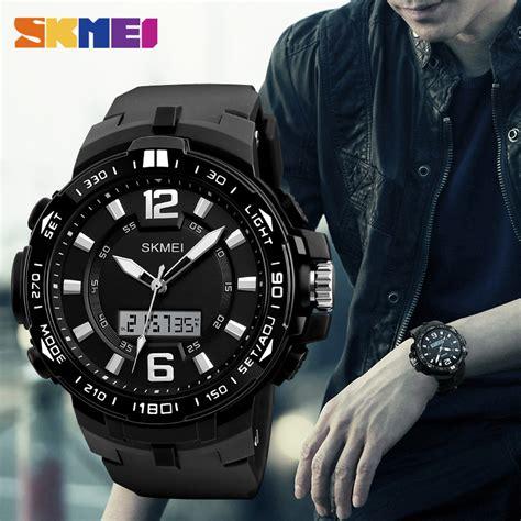 Skmei Jam Tangan Digital Pria Dg1248 Black Green skmei jam tangan analog digital pria 1273 black green