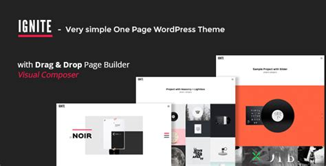 themes designova ignite simple one page creative wordpress theme by