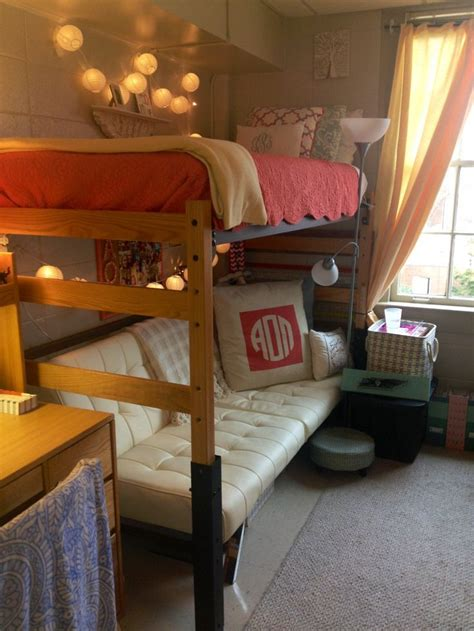 lofted bed dorm cute dorm room siue pinterest dorm dorm room and