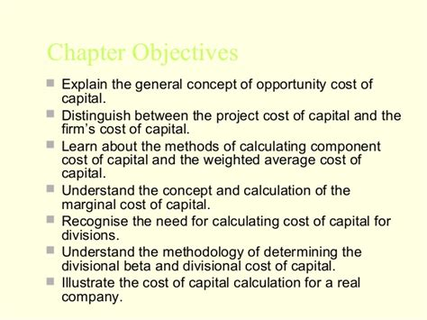 Mba Project On Cost Of Capital mba 2 fm u 3 cost of capital