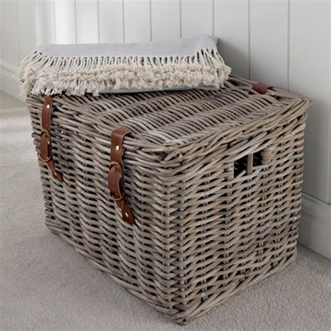 store fishermans wicker basket large