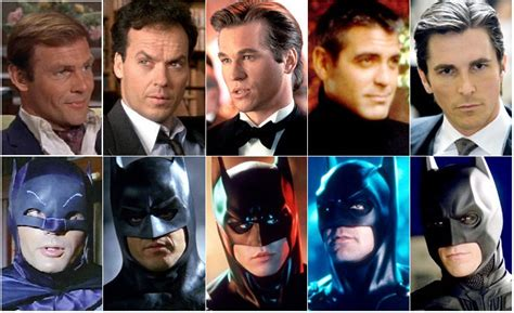 actors who played batman in movies movie characters who have been played by more than one