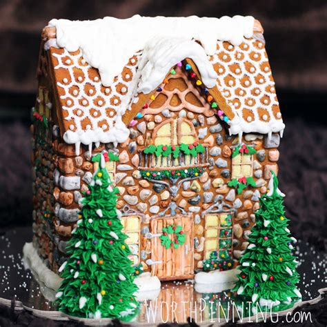 gingerbread house worth pinning stone gingerbread house