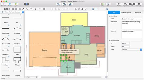 home floor plan visio visio house plan tutorial