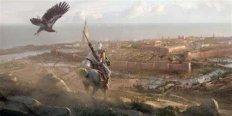 the art of assassin s creed origins polygon assassin s creed origins concept art by martin deschambault concept art world