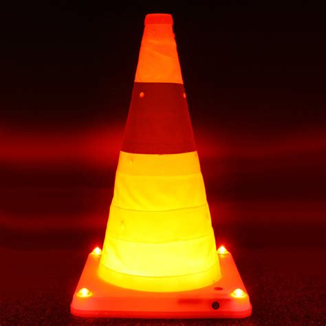 best wholesale retractable traffic cone with 5 led