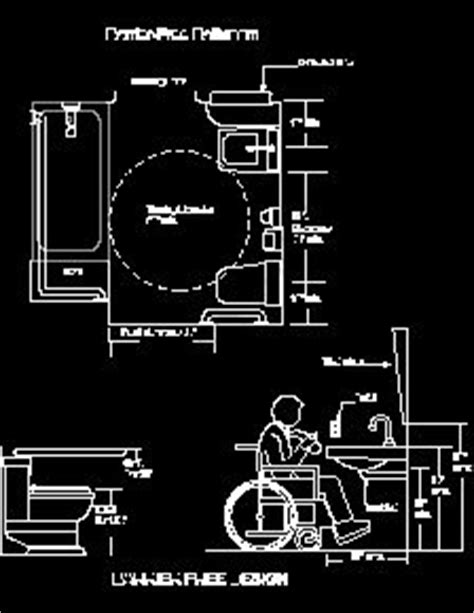 autocad ada bathroom blocks ada requirement sle drawings