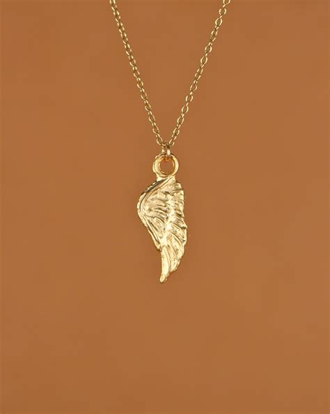 wing necklace guardian necklace gold wing necklace