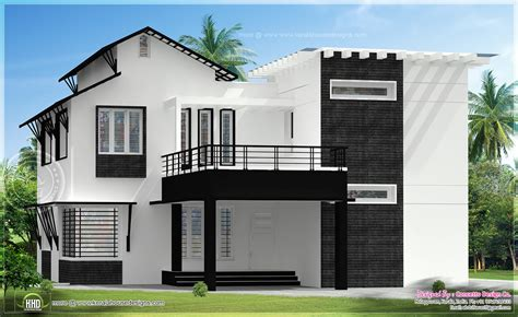 5 different house exteriors by concetto design kerala