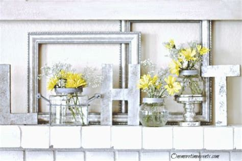 How To Decorate Fireplace Mantel Early Spring Home Decorating Ideas For Fireplace Mantels