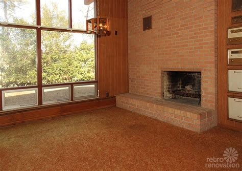 mid century fireplace warm and beautiful 1962 mid century modern brick ranch