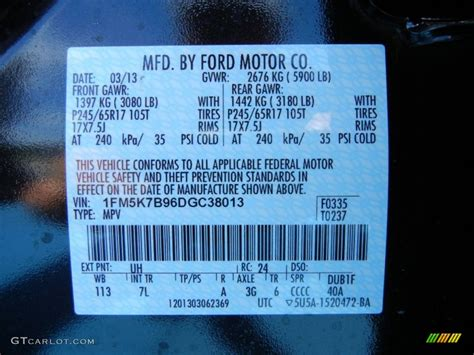 2013 ford explorer ecoboost color code photos gtcarlot