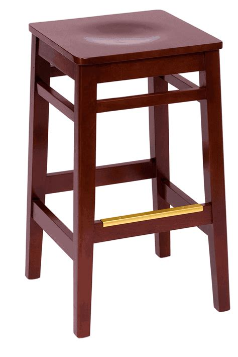 Cherry Backless Bar Stools by Trevor Cherry Backless Commercial Square Bar Stool W