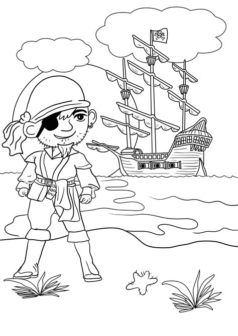 pirate coloring page pirate colouring pages for in the playroom