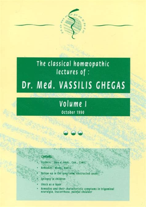 lectures on homoeopathic philosophy classic reprint books classical homeopathic lectures volume i classical