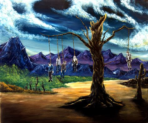 bob ross paintings archive evil bob ross series i happy hanging tree by