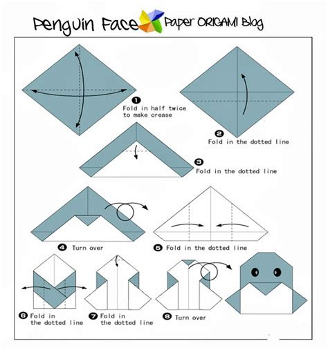 Origami Penguin Folding - animals origami penguin paper origami guide