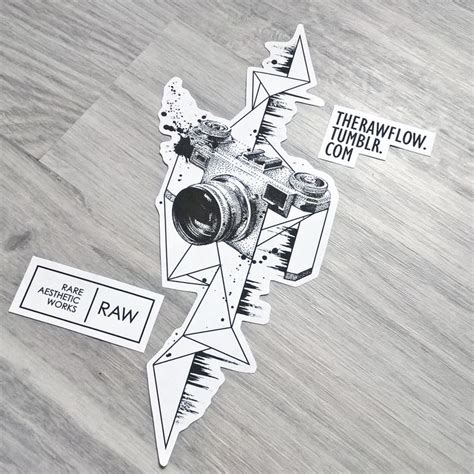 geometric tattoo camera love for photography music dotwork tattoo design for