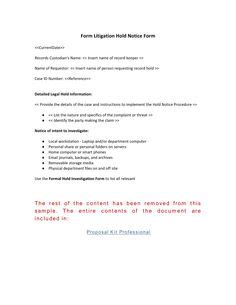 Notice Template Category Page 33 Efoza Com Litigation Checklist Template