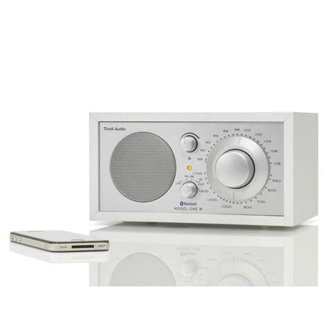 desk radio with bluetooth tivoli audio shop table radio one bluetooth white silver