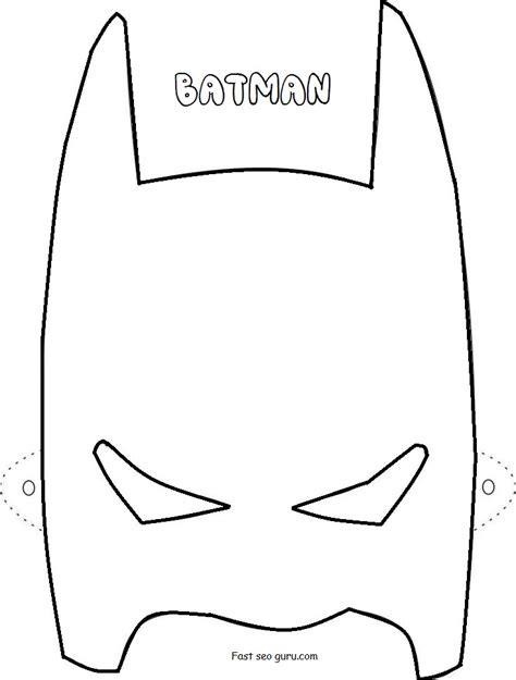 diy batman mask template bat mask template printable pictures to pin on